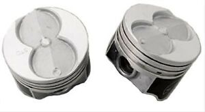 Sbf Small Block Ford 351w Speed Pro Flat Top Pistons 4 060 Bore 4 Valve Relief