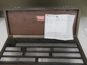Starrett mixed Large long Gage Block Set 5 20 calibrated 2015 W Cert Nh25