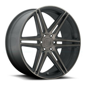 One 24x10 Dub Skillz S123 6x135 30 Black Machined Wheels Rims