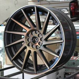 18x9 5 Jnc 051 Jnc051 5x100 5x114 3 35 Matte Black Bronze Face Wheel Rims Set 4