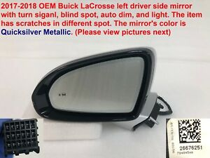2017 2018 Buick Lacrosse Left Side Mirror With Blind Spot Auto Dim 26676251