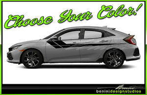 Honda Civic Racing Vinyl Hockey Stripes 2016 2017 2018 2019 Si Style 6