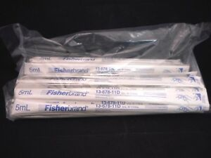 Fisherbrand Sterile 5ml Polystyrene Disposable Serological Pipets W Mag Stripe