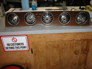 1970 Ford Thunderbird Gauge Cluster And Surround Bezel Wood Grain Coupe Landau