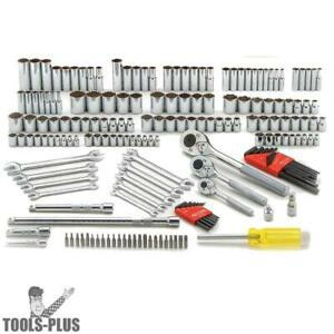 Proto J47184 185pc 1 4 3 8 1 2 Metric And Sae Socket Wrench Set New