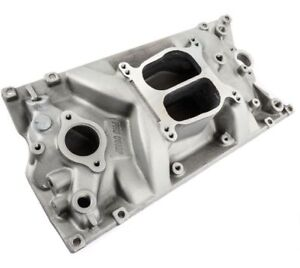 Sbc Chevy Holeshot Vortec Intake Manifold Satin Pce 147 1006 Clearance