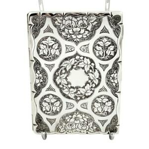 Antique Victorian Sterling Silver Card Case Aide Memoire 1865