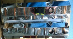 1958 1986 Small Block Chevy Chevrolet Aluminum Chrome Fabricated Valve Covers