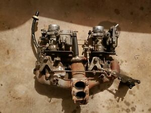 Mercedes W115 Twin Solex Caburetors Including Linkage And Manifold 36 40pdsi