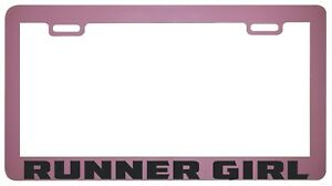 Runner Girl Pink License Plate Frame Tag