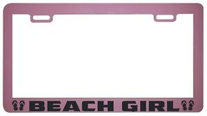 Beach Girl Pink License Plate Frame