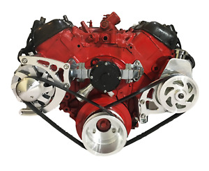 Big Block Chevy Serpentine Pulley Conversion Kit Alt Ps Electric Bbc 390 454 1