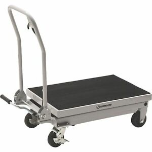 Strongway 2 speed Hydraulic Table Cart With Rapid Lift 1000 lb Capacity