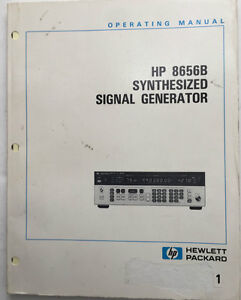 Hp 8656b Synthesized Signal Generator Operating Manual P n 08656 90128