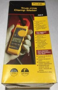 Fluke True Rms Clamp Meter Model 324 4152637