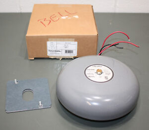 Edwards Signaling 8 Fire Bell 439d 8aw Gray 20 24 Vdc 84db Vibrating Alarm