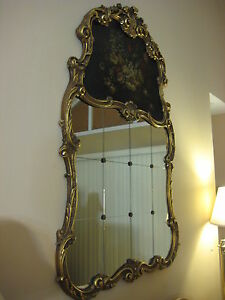 Antique Louis Xv Style French 12 Pieces Wall Mirror W Gilt Wooden Frame 62 T