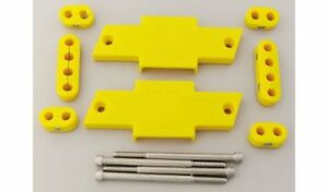 Mfy Ignition Wire Loom separator Centerbolt Bowtie Polymer Yellow 7 8mm Sbc Kit