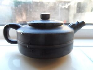 Yixing Zisha Teapot Fine Chinese Personal Pot With Marks Antique Ceramic