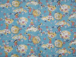 Charming Antique Baby Quilt Vintage Baby Crib Quilt Cute Juvinile Fabric