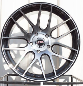 One 17x9 Str517 5x114 3 20 Black Machined Face Wheel