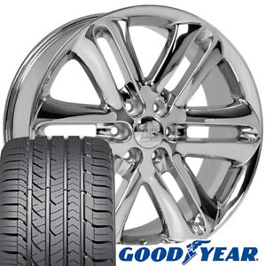22x9 Wheels Tires Fit Ford Trucks F150 Style Chrome Rims W Gy Tires 3918 Cp
