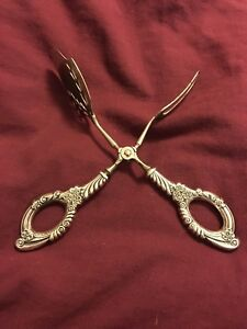 Marked Sterling Silver Pastry Server Scissors