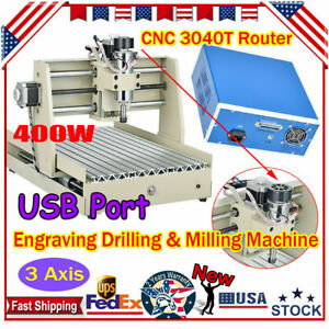 New 3 Axis Usb Cnc 3040 Router Engraver Drill Mill Motor Diy 3d Cutter