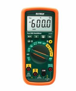 Extech Ex355 True Rms Multimeter Ncv Temperature