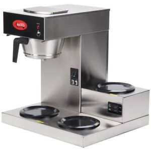 Avantco C30 Pourover Commercial Coffee Maker With 3 Warmers 120v