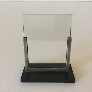 Vintage Art Deco Silver Bevelled Glass Picture Photo Frame