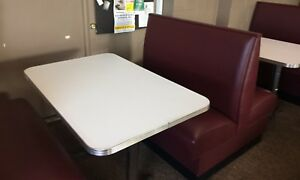 Restaurant Seating For 60 16 Upholsterer Booths 14 Tables 6 Months Old West Ma
