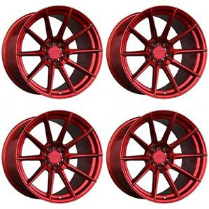 18x8 5 Xxr 567 5x100 5x114 3 35 Candy Red Wheels Rims Set 4