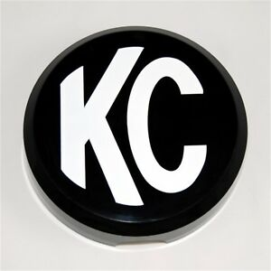 Kc Hilites 5105 Hard Light Cover Round Black On White Plastic Kc Letters 6