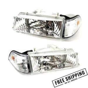 Fits 1988 1992 Toyota Corolla Clear Chrome Headlight Ae92 93 94 e90 ee90