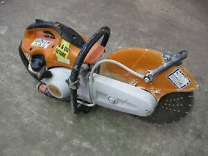 Stihl Ts420 Gasoline Concrete Saw W 14 Diamond Disk Water Kit