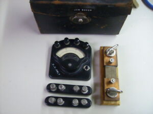 Weston Model 280 Volt ammeter Set Complete W Shunts Matching Serial Numbers