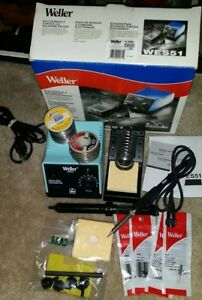 Weller Electronically Controlled Soldering Station W Extras wes51 120v 50 Watts