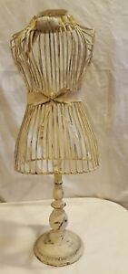 Miniature Wire Metal Dress Form Mannequin Table Top Display 27 Tall Shabby Chic