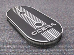 Cobra New Black 1x4 Oval Air Cleaner Assembly 1965 73 Mustang
