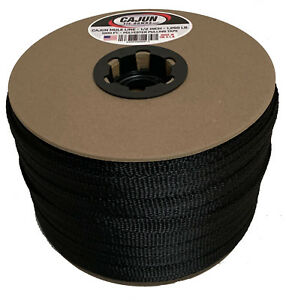 Cajun Mule Line 1 2 Inch Black 500 Feet 1 200 Lb Pull Tape Polyester