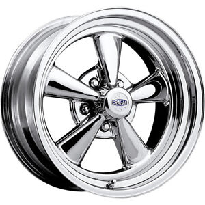 1 New 15x7 Cragar 61 S S Chrome Wheel Rim 03 5x4 50 5x4 75