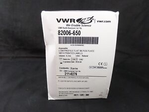 Vwr Plastic 96 well Pcr Plate 0 2ml Low Profile Flat Polypropylene 82006 650