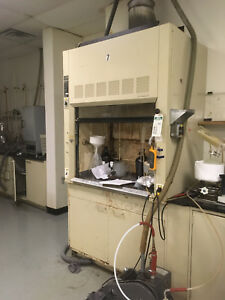 4 Hamilton Chemical Fume Hood With Bench
