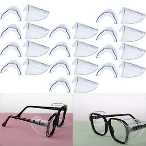 Hub s Gadget 12 Pairs Safety Eye Glasses Side Shields Slip On Clear Side New