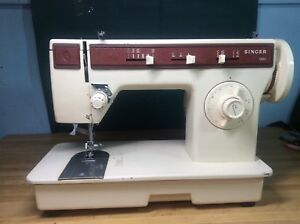 Singer 1263 Heavy duty Sewing Machine Leather Upholstery Denim Untested Forparts