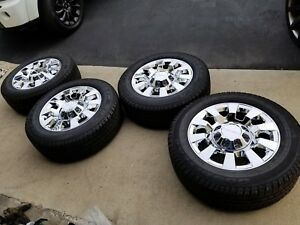 New 20 Denali Chrome Oem 2500hd 3500 Wheels Gmc Sierra Tahoe Chevy Silverado