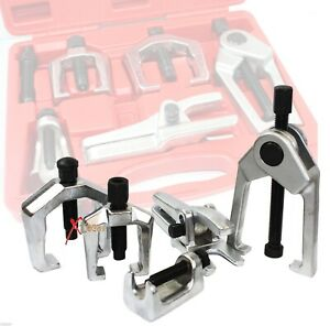 5pc Front End Ball Service Joint Tie Rod Pitman Arm Puller Remover Tool Kit Set
