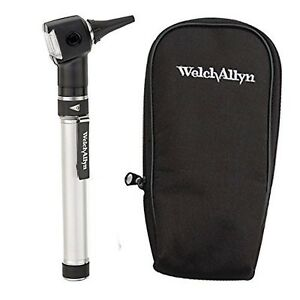 Welch Allyn Otoscope Set With Aa Handle Soft Case And 20 Specula batter New