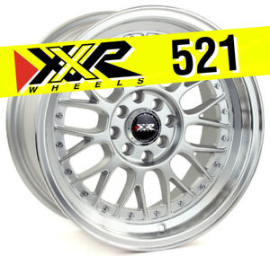 Xxr 521 16x8 4x100 4x114 3 20 Hyper Silver Wheels set Of 4